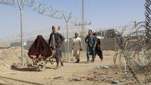 أفغان يحاولون اللجوء إلى باكستان (فرانس برس)