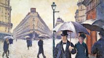 """لوحة """"يوم ممطر"""" لـ غوستاف كايبوت"""