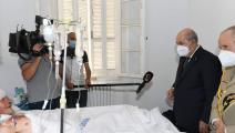 يرقد أكثر من 30 مصاباً جزائرياً بحروق مختلفة أصيبا بها أثناء تصديهم للحرائق (فيسبوك)