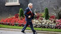 رئيس الوزراء البريطاني بوريس جونسون الذي رأس قمة السبع  أمس الثلاثاء(getty)