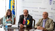 جانب من لقاءات بن طوار مع قيادات الاعمال في اوكرانيا