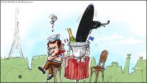 كاريكاتير غواصة ماكرون / حجاج