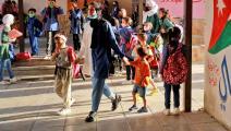 تطعيم كوادر التعليم شبه مكتمل في الأردن (خليل مزرعاوي/ فرانس برس)