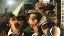 """لوحة """"حفل تنكّري"""" لـ فيليكس نوسباوم، 1927"""