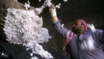 محلج لمعالجة القطن في حلب (Getty)