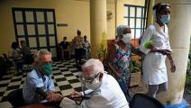 مركز طبي للتحصين ضد كورونا في كوربا (ياميل لاخيه/ فرانس برس)