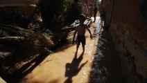 فيضانات في الجزائر في عام 2008 (فايز نور الدين/ فرانس برس)