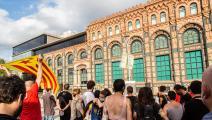 احتجاجات في برشلونة ضد ارتفاع أسعار الكهرباء (Getty)