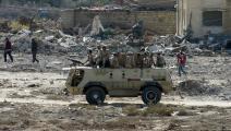 سياسة/الجيش المصري في سيناء/(عبد الرحيم الخطيب/الأناضول)