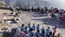 جبل الطاولة في جنوب افريقيا (Getty)