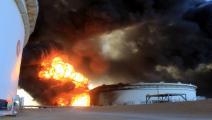 ليبيا/اقتصاد/تخريب حقل نفط ليبي/25-02-2016 (فرانس برس)