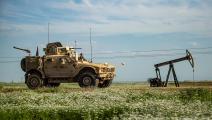 حقل نفط سوري وقوات أميركية/ فرانس برس