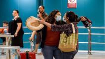 مخالفة إجراءات الوقاية في مطار تونس قرطاج (فيسبوك)