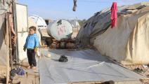 خيام النازحين السوريين مهترئة (فيسبوك)