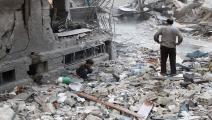 دمار في سورية- فرانس برس