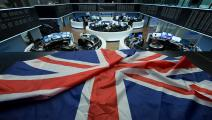 بورصة ألمانيا العلم البريطاني غيتي 14 فبراير 2019