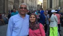 حسام خلف وعلا القرضاوي معتقلان في مصر (تويتر)