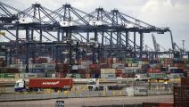 ميناء بريطاني حاويات تجارة غيتي 19 مارس 2019