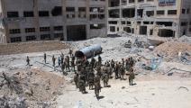 جيش النظام السوري في حلب\GEORGE OURFALIAN/AFP