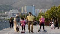 زادت الإصابات في إيران بعد تخفيف القيود (فاطمة بهرامي/الأناضول)