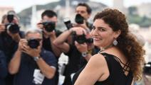 المخرجة الفلسطينية آن ماري جاسر (آن كريستين بوجولا/فرانس برس)