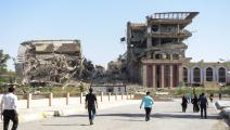 أنقاض رئاسة جامعة الموصل (محمد الشاهد/فرانس برس)