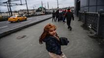 تسوّل في تركيا 1/مجتمع/15-12-2017 (بولنت كيليتش/ فرانس برس)