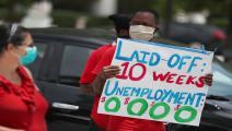 احتجاج على تفاقم البطالة في فلوريدا (Getty)