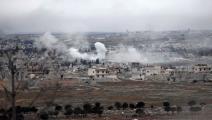 قصف إدلب (فرانس برس)