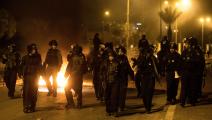 شرطة الاحتلال الاسرائيلي تقمع الفلسطينيين بالقدس قبل أسابيع (Getty)