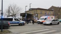 الشرطة الألمانية في مكان وقوع الجريمة(تويتر)