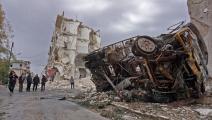 سياسة/غارات سورية/(محمد حاج قدور/فرانس برس)