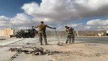 سياسة/قاعدة عين الأسد/(أيمن حنة/فرانس برس)