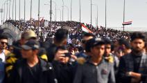 سياسة/احتجاجات العراق/(حيدر حمداني/فرانس برس)