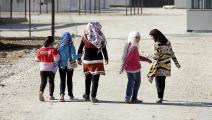 لاجئون سوريون في مخيم الزعتري في الأردن (توماس كوهلر/Getty)