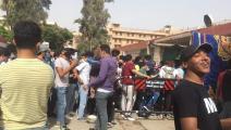 تزاحم طلاب الثانوية العامة في مصر أمام اللجان (تويتر)