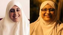 عام على اعتقال هدى عبد المنعم وعائشة الشاطر (تويتر)