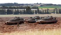 جيش الاحتلال على حدود غزة (فرانس برس)