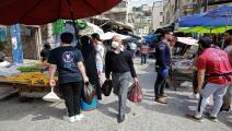 زحام في أسواق الأردن (خليل مزرعاوي/فرانس برس)