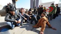 احتجاج ضد البطالة في الجزائر/ فرانس برس
