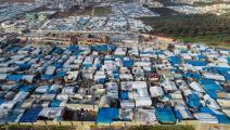 لا مكان بالمخيمات لمزيد من النازحين السوريين (إردال توركوجلو/الأناضول)