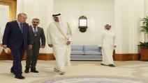 أمير قطر وأردوغان-سياسة-الأناضول