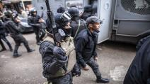 الشرطة المصرية تقمع المتظاهرين في القاهرة (محمود خالد/فرانس برس)