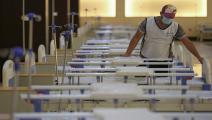 بناء مراكز للحجر في العراق/مجتمع (أحمد الربيعي/ فرانس برس)