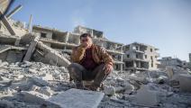 مباني سورية المدمرة (هليل فيدان/الأناضول)