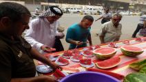 العراق-بطيخ العراق-أسواق-07-11 (فرانس برس)