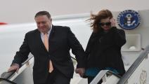 وزير الخارجية الأميركي ماك بومبيو/زوجته سوزان/أندرو كباليرو-رينولدز/فرانس برس