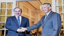 نتنياهو ورئيس وزراء سنغافورة-اقتصاد-28-2-2017 (روسلان رهمان/فرانس برس)