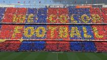 """جماهير برشلونة في ملعب """"كامب نو"""""""