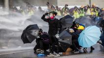 احتجاجات هونغ كونغ-اسحق لورنس/فرانس برس